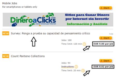 ClickWorker Ganar Dinero con los Minitrabajos 1