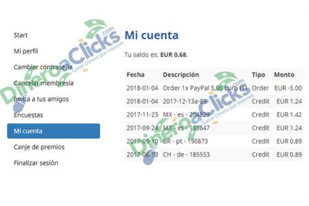 Pago de Mobrog conseguido con 5 encuestas de 0,89/0,89/1,24/1,24 y 1,42€