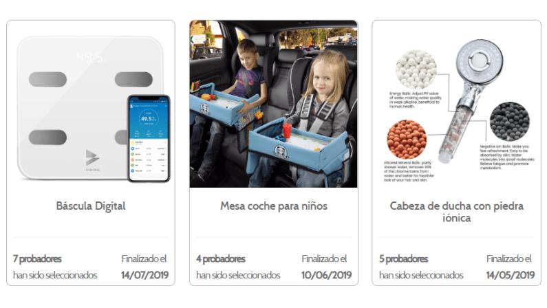 Pruebas de productos en EncuestasRemuneradas.es