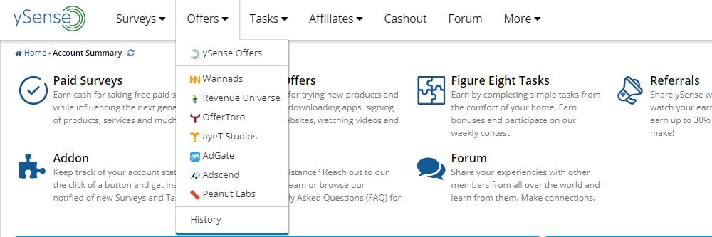 Las ofertas se encuentran en el apartado Offers